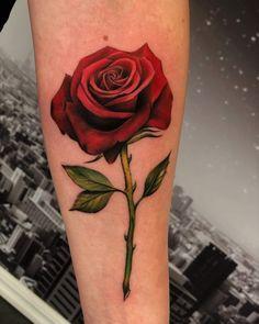 Pretty Girl Tattoos, Girly Tattoos, Beautiful Tattoos, Small Tattoos, Thumb Tattoos, Body Art Tattoos, Tattoo Drawings, Rose Stem Tattoo, Rose Tattoo Forearm