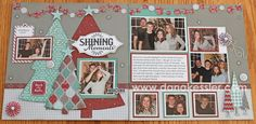 Two Page Christmas scrapbook layout Sparkle and Shine CTMH Layouts - blog with lots of great ideas