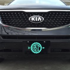 Matching Car Monogram Decal and Car Tag Matching car decal and car tags. Black and white tags available. Any color and style monograms. Please comment for more information. Prices start at $25 per set. Other
