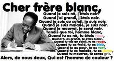 """""""L'homme de couleur"""", poème de Léopold Sedar Senghor. LSS était un poète, écrivain, homme politique, premier président du Sénégal, et membre de l'Académie française."""