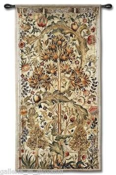 "William Morris Wall Tapestry 68"" x 35"" Summer Quince Tree of Life 