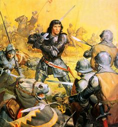 Richard III at the Battle of Bosworth Field by James E McConnell 1485