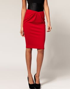 Pencil Skirt Red ($38)