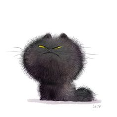 Cute and funny art Wiebke Rauers Illustration Cute Animal Drawings, Whimsical Art, Cute Illustration, Cat Love, Crazy Cats, Cat Art, Cats And Kittens, Baby Kittens, Cute Cats
