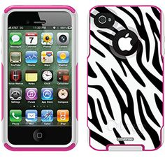 Zainy Zebra Fashion Prints design on OtterBox® Commuter Series® Case for iPhone 4 / 4S in Pink