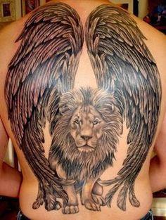 lion with wings tattoo design Tattoo Design 4 Dope Tattoos, Tattoos 3d, Animal Tattoos, Body Art Tattoos, Sleeve Tattoos, Tattos, Tattoo Femeninos, Glyph Tattoo, Tiger Tattoo