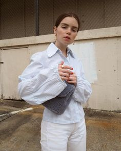 Summer 2018 fashion and trends Cool Outfits, Fashion Outfits, Womens Fashion, Fashion Trends, Bow Tops, New Shape, Everyday Outfits, Get Dressed, Minimalist Fashion