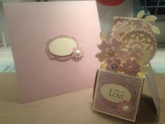 3d pop up card made using craftwork card papers.