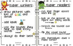 Super Readers and Super Writers Posters- great for prompting students to use what they know!