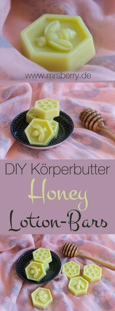 Körperbutter selber machen - Honey-Lotion-Bars Body Butter, Body Butter or Lotion Bars - no matter what you call them, with just a few ingredients, you can easily make the Honey Lotion Bars yourself. Diy Lotion, Lotion Bars, Lotion En Barre, Diy Beauté, Natural Candles, Few Ingredients, Beauty Recipe, Diy Skin Care, Body Butter