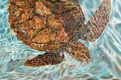 NADANDO EN BLUES. Pintura, Óleo/tela, 100 x 150 cm. Jorge Luna. (pintor mexicano).