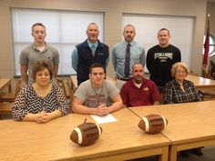 @BrennanIvey_80 Blessed to have signed to play football at Guilford College