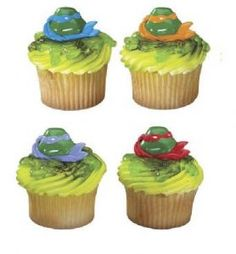 TMNT Party Favor Cupcake Rings