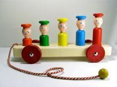 1950's Playskool Wooden Toy by OliveandFrances on Etsy. $37.00, via Etsy.