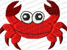 Crab Filled Embroidery Design