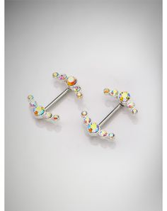 Body Jewelry. 14 Gauge Gem V Nipple Ring Set. For details, just click this link - http://www.spencersonline.com/product/So-14g-Gem-V-Nipple-Pack?aw_affid=164914&utm_campaign=AFF:AW&aw_gid=0&aw_bid=0&aw_pid=0&aw_cr=&aw_sitename=httppinterestcommylellandmeromancenovelsro $19.99
