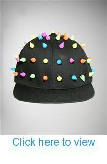 Neon All Over Spikes Flatbill Hat #Neon #Spikes #Flatbill #Hat