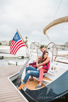 Looking to the side -  Newport Beach Engagement : Megan and Whit - Jasmine Star Blog