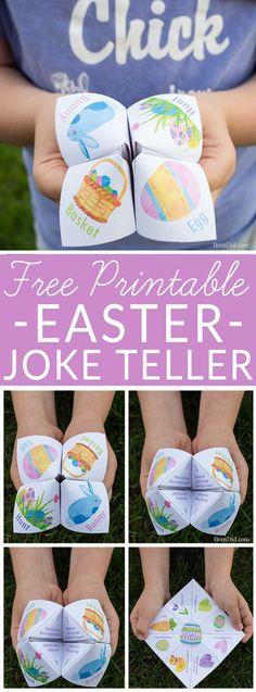Kids love this sillyEaster Joke Teller full of fun jokes and share some laughs with your favorite kids. Cootie catcher. Fortune teller. East craft. #Easter #joketeller via @brendidblog