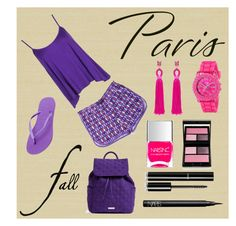"""I Love Paris In The Fall"" by dderoseau ❤ liked on Polyvore featuring Zoffany, Vera Bradley, Boohoo, Havaianas, Oscar de la Renta, XOXO, Nails Inc., Surratt, Chanel and NARS Cosmetics"