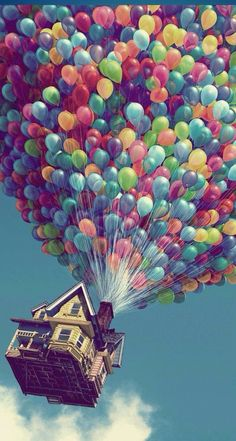 Sometimes I wish I could sail away in my house like in UP.