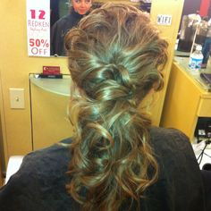 Elegant ponytail hair