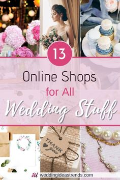 Looking for the best trandiast places to buy an all thing wedding? Read my blog post on Online Shops For All Wedding Stuff and find out what are the best wedding stores online, deals, budget friendly. Get wedding planning site review on wedding dress, Jewelry and Accessories, bridesmaid proposal gift, party decorations, and gusset favors.