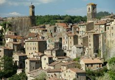 lovely italian town, Sorano, Maremma,Tuscany. I stayed in a castle to the left of photo...had views of the whole town.