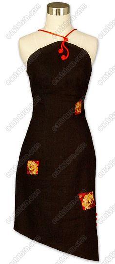 Asian Short Dress - Fashionable Linen Dress : EastStore.com