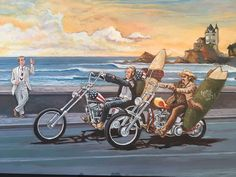 La Côte des Basques beach has seen a lot in the 60s and 70s ...Humorous wink by illustrator, painter #yannrenaud #artride #wheelsandwaves2017 #wheelsandwaves  via ✨ @padgram ✨(http://dl.padgram.com)