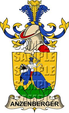 Anzenberger Family Crest apparel, Anzenberger Coat of Arms gifts
