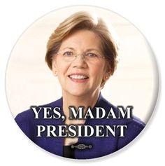 Button to support Elizabeth Warren for President!
