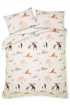 Buy Penguin Brushed Cotton Deep Fitted Sheet Set online today at Next: Israel