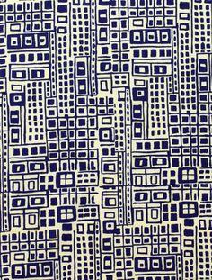 Cité in Indigo and Tea by Alexander Henry by sewfreshfabrics, $4.90
