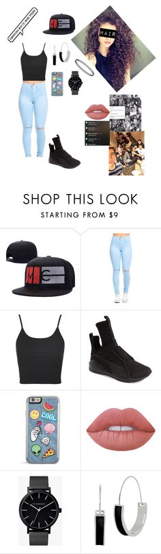 """Untitled #268"" by carolinematos201 ❤ liked on Polyvore featuring Topshop, Puma, Lime Crime, The Horse and Kenneth Cole"