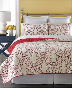Martha Stewart Collection Chateau Red Twin Quilt - $89.99