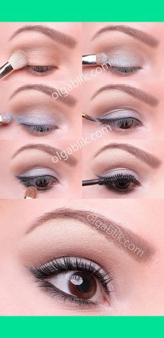 Nice way to incorporate silver into everyday makeup.