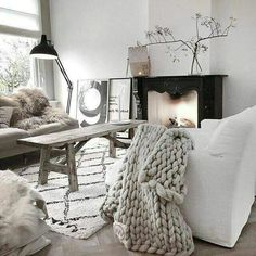 make it a white christmas with this scandi chic home interior design that can adapt to the seasons with your own touches of accent colours in art soft furnishings or ornaments and can be made to feel cosy or at one with nature by the addition of scandi Decor, Room, Home Living Room, Interior, Home, House Interior, Home Interior Design, Interior Design, Home And Living