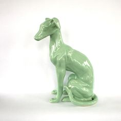 Greyhound Statue Sitting Greyhound Dog Statue by RhapsodyAttic, $145.00