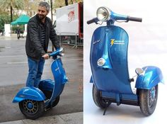 Vespa Inspired Segway Scooter - http://designyoutrust.com/2014/09/vespa-inspired-segway-scooter/