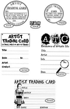 artist trading cards artist trading cards trading cards and