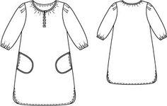 woman gathered dress pattern
