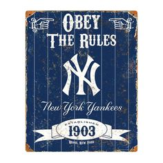 MLB New York Yankees Party Animal Vintage Metal Sign