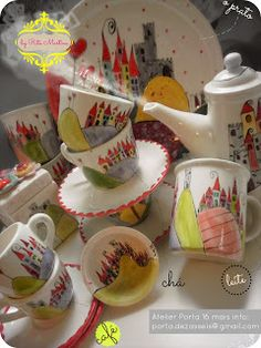Ceramic Set by 'Rita Martins' You can order worldwide!  Email us: porta.dezasseis@gmail.com