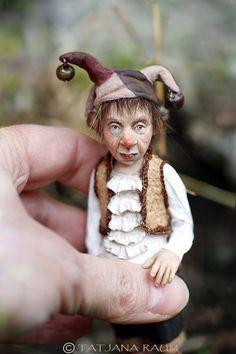 OOAK miniature artdoll 112th by Tatjana Raum dollhouse by chopoli