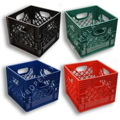 Set of 4 square milk crates