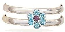 #salernosjewelrystore11.ecrater.com                 #ring                     #Purple #Blue #Crystal #Flower #Ring                Purple and Blue Crystal Flower Toe Ring                                       http://www.seapai.com/product.aspx?PID=183054
