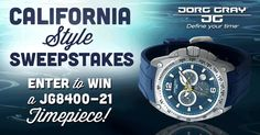 #contest enter to #win a $600 #watch from Jorg Gray!  http://www.cefashion.net/win-this-jorg-gray-watch #fashion #swag