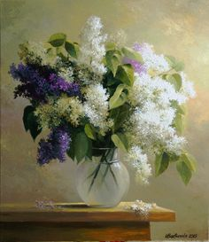 Of Lilac. : Makss posted to Artist Daily Art Floral, Lilac Flowers, Beautiful Flowers, Painting Lessons, Painting & Drawing, Pictures To Paint, Beautiful Paintings, Painting Inspiration, Art Boards