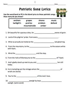Worksheet Veterans Day Worksheets interview parent involvement activities and presidents on pinterest veterans day pack patriotic song lyrics proud to be an american abc